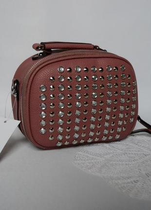 Cумка клатч кроссбоді через плече розового кольору актуальна
