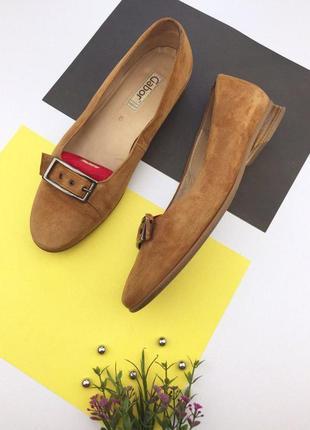 Замшевые туфли на низком ходу gabor