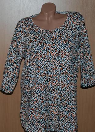 Блуза принтованая бренда tcm tchibo /95%хлопок / эластичный/рукав 3/