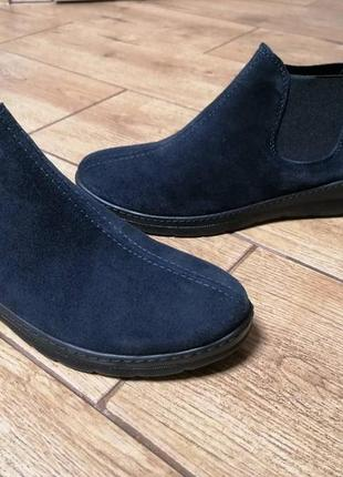 Крутые ботинки  челси. замша. inblu