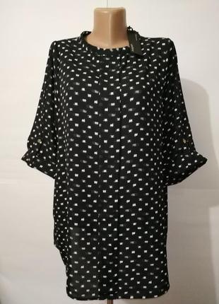 Блуза в крапинку новая большой размер autograph uk 18/46/xxl