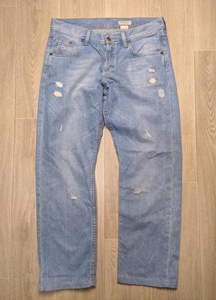 Женские джинсы, бойфренды, мом джинс, голубые, рр 29x32