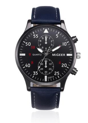 Наручные мужские часы с синим ремешком код 295