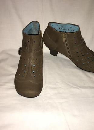 Ботинки *marc * кожа-нубук германия р.39 ( 25.50 см)