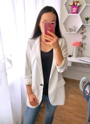 Белый пиджак h&m