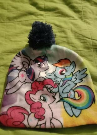 Шапочка акрил флис my . little pony
