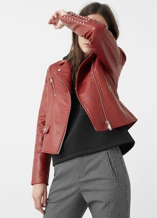 Классная кожаная куртка косуха