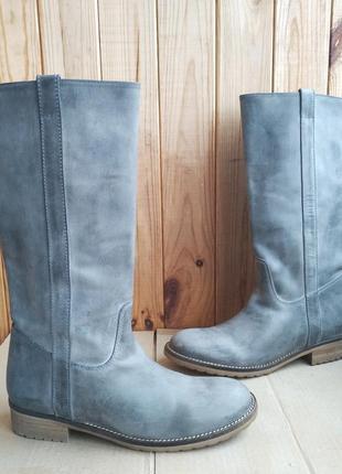 Новые полностью кожаные стилизованные сапоги hip shoe style германия, оригинал, полусап