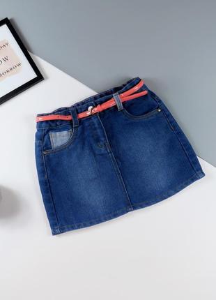 Юбка джинсовая george на 8-9 лет, рост 128-135 см.
