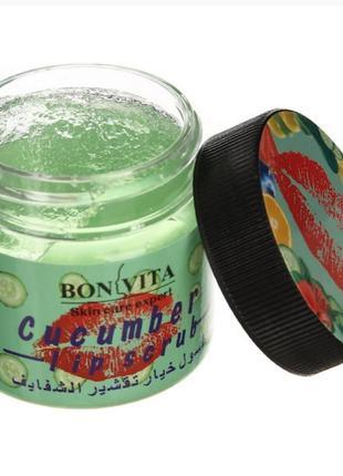 Скраб для губ bonvita cucumber lip scrub