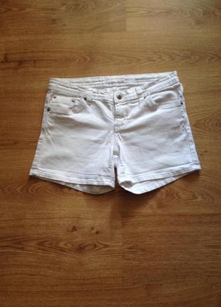 Стильні білі джинсові шорти /під майка топ футболка /l1 фото