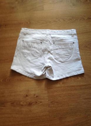 Стильні білі джинсові шорти /під майка топ футболка /l2 фото