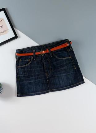 Джинсовая юбка на 6-7 лет, рост 120 см