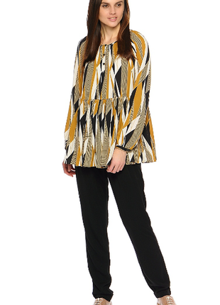 Брендовая блуза reserved italian fabric геометрический принт этикетка