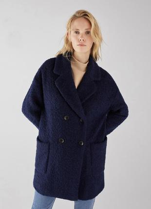 Пальто с шерстью bershka