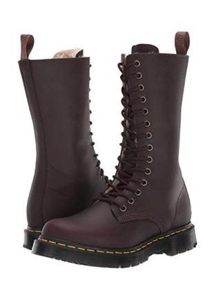 Зимние, кожаные  ботинки , унисекс