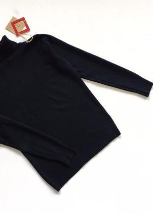Новый стильный гольф натуральная ткань черный s-m