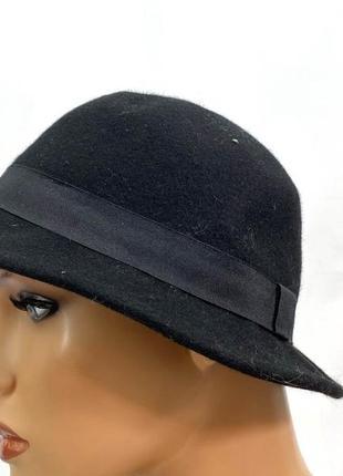 Шляпка стильная, фетровая (шерстяная) bcbg, разм 56 см, отл сост