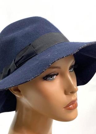 Шляпа стильная, фетовая asos, т.синяя, разм 57 см, отл сост