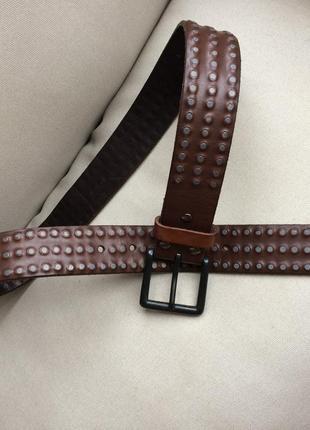 Allsaints оригинал крутой пояс ремень бренд кожа – в стиле гранж - кожаный