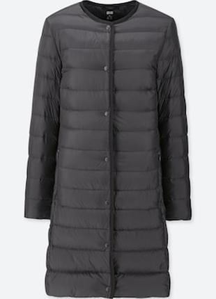 Пальто, плащ, пуховик, women ultra light down compact coat от uniqlo