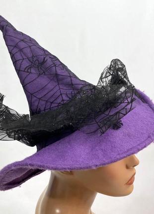 Шляпка колпак фиолетовая, карнавальная, ведемская