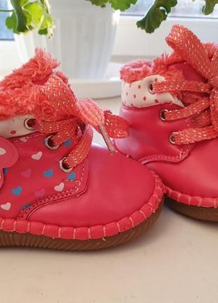 Демисезонные ботинки 12 см стелька