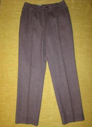 Basler шерстяные брюки на высокой посадке твидовые штаны шерсть, лен, шелк