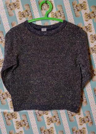 Легкий свитер с люрексом