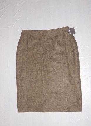 М-l, поб 50-52, 80% шерсть! теплая новая юбка миди yorn