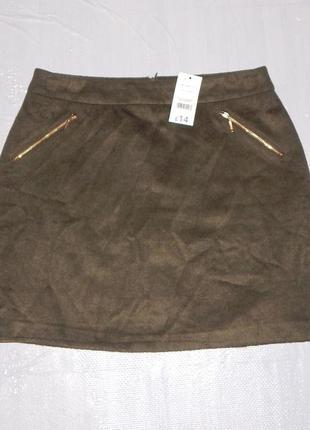 М-l, поб 48-52, теплая новая юбка классика мини george