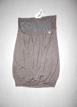 Xs-s, поб 44-48, новая нарядная трикотажная юбка фонарик justor