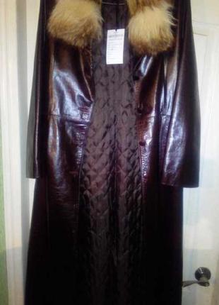 Торг торг торг😉😄😁 натуральное кожаное пальто мех лиса на синтепоне