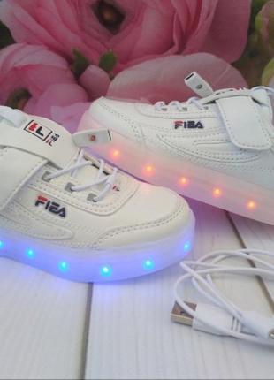Мега стильные led -кроссовки с подзарядкой от usb