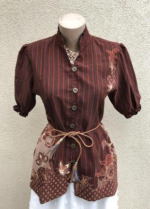 Винтаж,эксклюзив,шелковая блуза,рубашка,этно стиль,bali lestari,