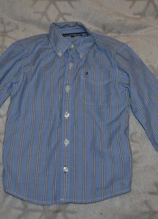 Рубашка tommy hilfiger на 4 года рост 104 оригинал