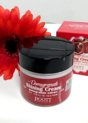 Jigott pomegranate shining cream крем для лица с экстрактом граната