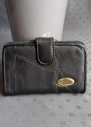 Черный кошелек фирмы je todore кожа/экокожа