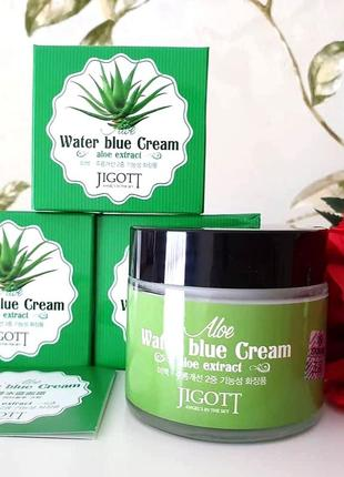 Jigott aloe water blue cream крем для лица с алое