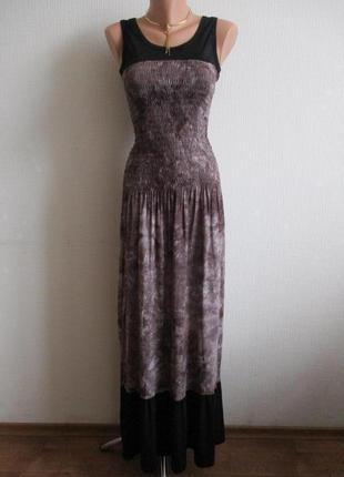 Длинное макси платье в пол