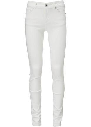 Белые джинсы брюки высокий рост