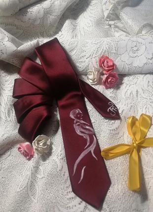 Женский галстук с ручной росписью