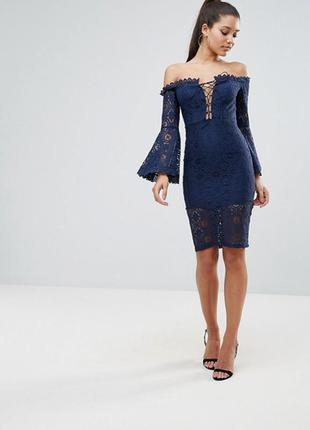 Шикарное кружевное платье prettylittlething 💙