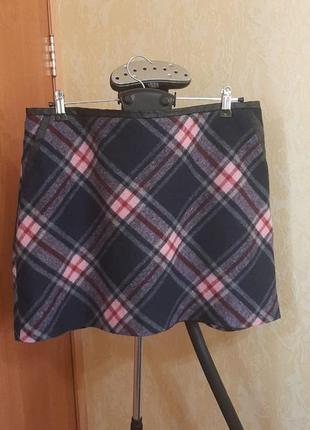 Трендовая теплая юбка с шерстью 14-16 размер