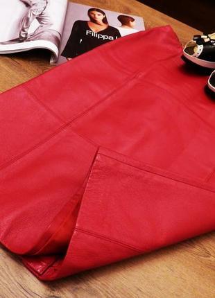For woman кожаная юбка натуральная кожа, стильна спідниця в новому стані, німеччина