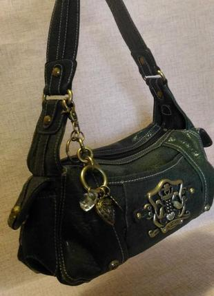 Видная небольшая сумочка изумрудного цвета) италия
