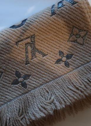Шарф louis vuitton logomania scarf monogram beige