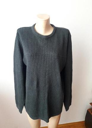 Теплая кофта свитер серая мужская
