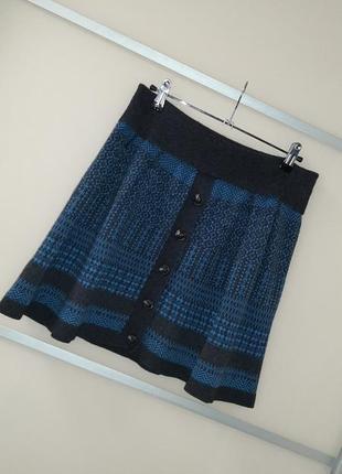 Теплая зимняя юбка 20%шерсти