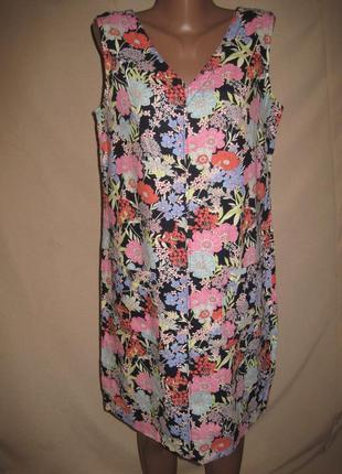 Льняное платье некст р-р12